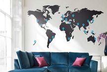 Mapa mundi decoracion