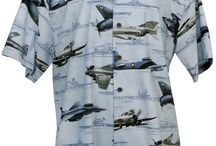 Mens Vintage Military Hawaiian Shirts