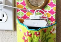 Fabric phone charger, Charging pocket, charging station, phone case / Fabric phone charger, phone case