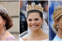 Royal tiaras/crowns/jewels / by Gina Cook