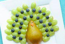 Pratos com fruta
