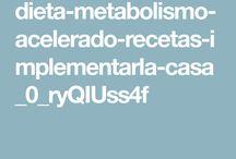 Recetas dieta metabolismo