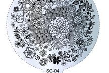 NailCandi LARGE SG Stamping Plates / Nice large round plates for all the stamping lovers :) The SG plates are 9cm in diameter and of the highest of quality. Available from http://www.nailcandi.co.za