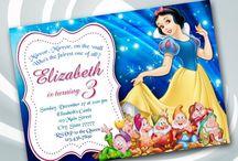 Invitacion de Blancanieves