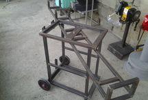 masă de lucru fier +lemn