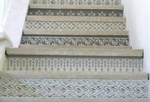 up the stairs & down the hall / heavenly stairways and hallway decor / by Maureen Cracknell Handmade