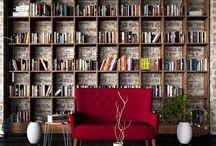 AT&T obývák, knihovna