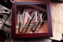 Cigar Humidors /  Your message can be personalized onto the top of the humidor.