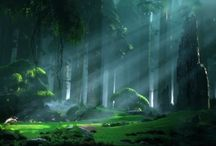 Environment Concepts / A collection of environment concepts I like.
