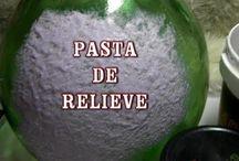 pasta de relieve / bricolage