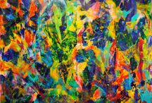 """Large abstract paintings 36"""" and up! / This are painting which size is 36in or larger. #art #abstract"""