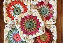 Square / Manta / Colcha / Crochet / Tricô