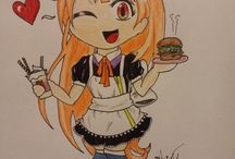 Haru chan fan art (Doujinshi) / Fan made artwork for Okamoto Kitchen's kawaii maid, Haru chan. All submissions earn 100 points on our leaderboard. Submit all entries at www.okamotokitchen.com/contact with the subject line, Haru chan.