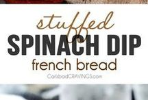 Spinach dip french bread