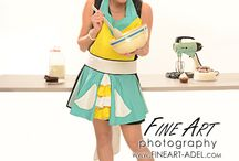 """The Spring Daisy Apron / This """"FUN"""" apron will brighten any day! This one apron is one of the rare apron I actually DO make for the kitchen. With it's bright and cheery colors it will leave you you happy and cheery, whistling away while doing your work! / by Trisha Trixie Designs"""