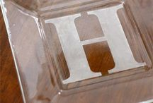 Glass etching ideas