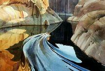 Still water, reflection
