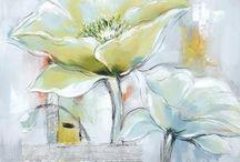 acryl bloemen