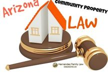 Community Property Law in AZ / Arizona is a community property state. As a result, community property principles will control property division during divorce. This board contains information on common issues that arise when divorcing spouses are trying to divide property during a divorce.