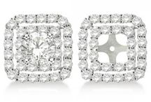 Earring Jackets / Dress up your diamond studs with our nifty earring jackets. www.Allurez.com  / by Allurez