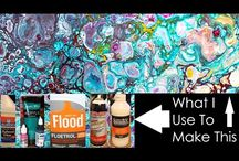 Pouring acrylic painting tutorials video