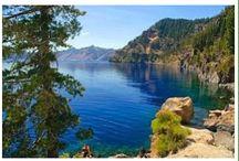 Озеро Кламат / Озеро  Кламат  находится в центральной части штата Орегона в США, недалеко от вершины Шаста,высота которой, 4322 м. Оно питается снегами гор и ледниками вулканической горной гряды Каскад. Поэтому озеро богато огромным количеством минералов. Это экологически чистый и красивый бассейн, площадью 220 кв.километров.