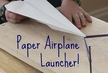 PLAY - Paper Airplanes / What's the best paper airplane to make? Here are some ideas to get you started! / by Encourage Play | Coping Skills for Kids