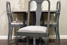 Queen Anne Chairs / Our Queen Anne chairs can be customised with any finish and fabric. Here are a few ideas of how this classic chair can look. Create your own www.hiddenmill.com