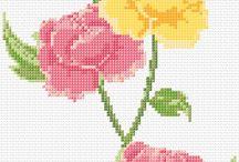 а вышивка (цветы)