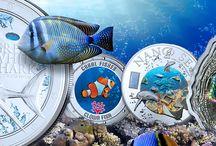 Besondere Münzen / Ausgefallene Münzen-Motive, spezielle Prägeanlässe, besondere Münzmaterialien