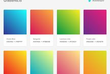 Color palette, scheme, gradient