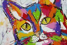 Katten / Schilderijen