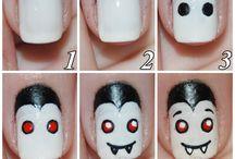 halloween nail art /