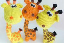 Háčkování - žirafy