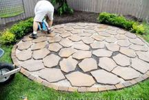 Fire pit patio stone design