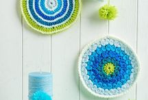 Crochet Mandalas / Sweet circular makes that can be used as coasters, pan holders or wall art