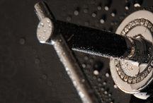 Black luxury modern bathroom accessories / Black grey modern glamour bathroom
