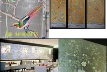 hand painted wallpaper, top quality and factory prices