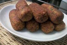 croquete  de batata com carne moida