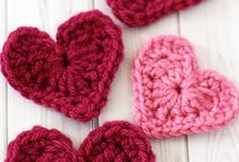 Crochet Hearts flowers owls