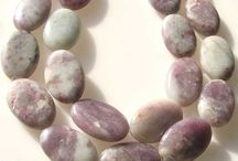 Stone Beads > Lepidolite Beads / Natural Lepidolite Beads in a variety of shapes, sizes and colors.