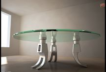 Furniture / Glass coffee tables.