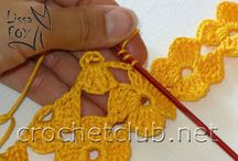 Crochet stitch tutorial flower mat