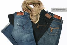 Men's Jeans and T shirt / Tears of Bleu