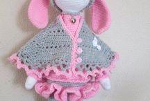 panenky háčkované ,pletené,šité