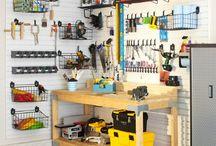 Dads garage needs organizin' / Some garage organizing tips!