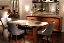 Yemek Odası - Dining Room / Modern yemek odası modelleri, ahşap mermer masalar sandalyeler ve konsol #yemekodası #diningroom #table #yemekmasası