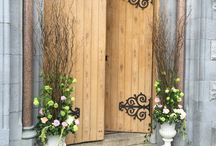 Church entrance decorations / Make your entrance little bit special on the wedding day