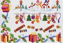 χριστουγεννιατικα σχεδια σταυροβελονια