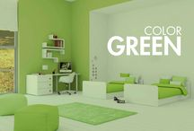 GREEN BABY ROOMS / Cunas convertibles modernas y habitaciones infantiles de diseño en color verde, para niños y niñas. Here are some of our favorite green baby rooms and decor items